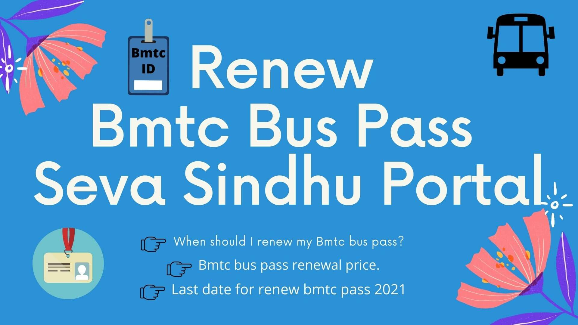 Renew Bmtc bus pass through Seva Sindhu portal 2021