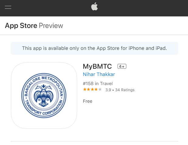 How to download bmtc app from App store(IOS)