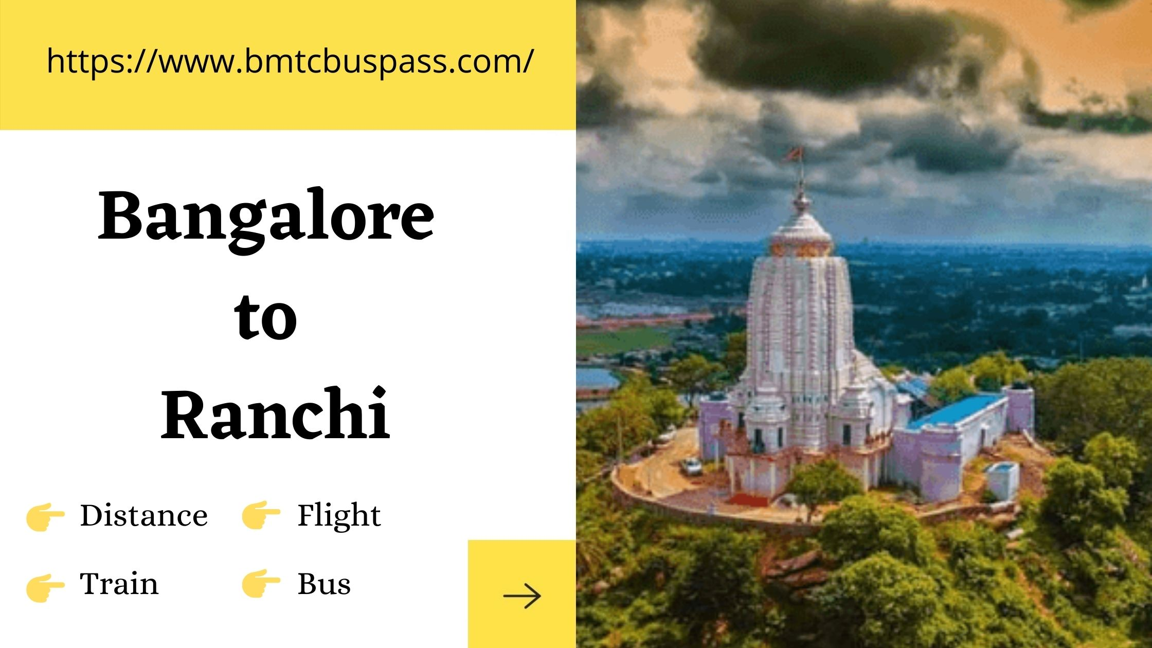 Bangalore to Ranchi